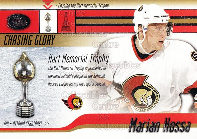 2002-03 Pacific Calder Chasing Glory #7 Marian Hossa, Hart Trophy<br/>3 In Stock - $3.00 each - <a href=https://centericecollectibles.foxycart.com/cart?name=2002-03%20Pacific%20Calder%20Chasing%20Glory%20%237%20Marian%20Hossa,%20H...&quantity_max=3&price=$3.00&code=104180 class=foxycart> Buy it now! </a>