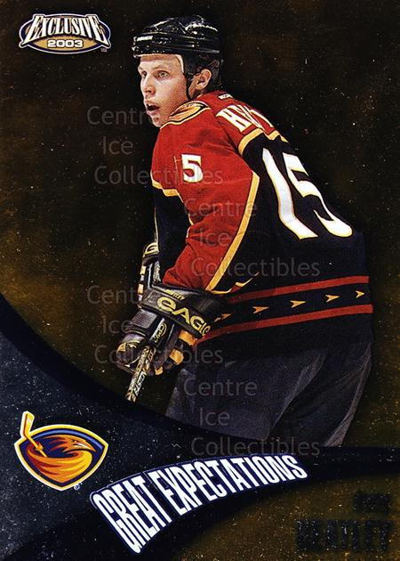 2002-03 Pacific Exclusive Great Expectations #1 Dany Heatley<br/>7 In Stock - $2.00 each - <a href=https://centericecollectibles.foxycart.com/cart?name=2002-03%20Pacific%20Exclusive%20Great%20Expectations%20%231%20Dany%20Heatley...&quantity_max=7&price=$2.00&code=104784 class=foxycart> Buy it now! </a>