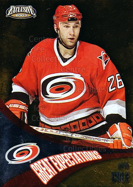 2002-03 Pacific Exclusive Great Expectations #4 Erik Cole<br/>5 In Stock - $2.00 each - <a href=https://centericecollectibles.foxycart.com/cart?name=2002-03%20Pacific%20Exclusive%20Great%20Expectations%20%234%20Erik%20Cole...&quantity_max=5&price=$2.00&code=104791 class=foxycart> Buy it now! </a>
