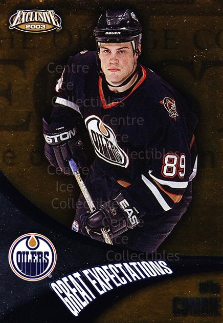 2002-03 Pacific Exclusive Great Expectations #7 Mike Comrie<br/>7 In Stock - $2.00 each - <a href=https://centericecollectibles.foxycart.com/cart?name=2002-03%20Pacific%20Exclusive%20Great%20Expectations%20%237%20Mike%20Comrie...&quantity_max=7&price=$2.00&code=104794 class=foxycart> Buy it now! </a>