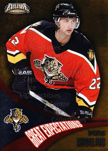 2002-03 Pacific Exclusive Great Expectations #8 Kristian Huselius<br/>5 In Stock - $2.00 each - <a href=https://centericecollectibles.foxycart.com/cart?name=2002-03%20Pacific%20Exclusive%20Great%20Expectations%20%238%20Kristian%20Huseli...&quantity_max=5&price=$2.00&code=104795 class=foxycart> Buy it now! </a>