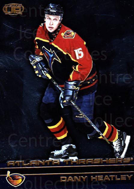 2002-03 Heads-Up #4 Dany Heatley<br/>5 In Stock - $1.00 each - <a href=https://centericecollectibles.foxycart.com/cart?name=2002-03%20Heads-Up%20%234%20Dany%20Heatley...&quantity_max=5&price=$1.00&code=105044 class=foxycart> Buy it now! </a>