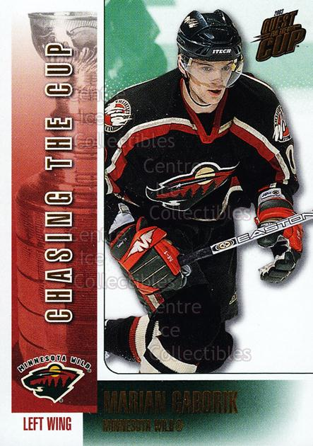 2002-03 Pacific Quest For the Cup Chasing the Cup #7 Marian Gaborik<br/>6 In Stock - $2.00 each - <a href=https://centericecollectibles.foxycart.com/cart?name=2002-03%20Pacific%20Quest%20For%20the%20Cup%20Chasing%20the%20Cup%20%237%20Marian%20Gaborik...&quantity_max=6&price=$2.00&code=105172 class=foxycart> Buy it now! </a>