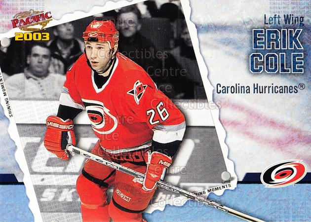2002-03 Pacific Shining Moments #3 Erik Cole<br/>3 In Stock - $2.00 each - <a href=https://centericecollectibles.foxycart.com/cart?name=2002-03%20Pacific%20Shining%20Moments%20%233%20Erik%20Cole...&quantity_max=3&price=$2.00&code=105278 class=foxycart> Buy it now! </a>