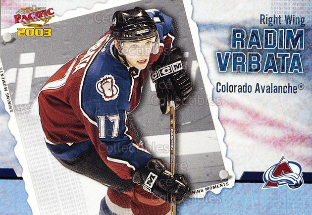 2002-03 Pacific Shining Moments #4 Radim Vrbata<br/>5 In Stock - $2.00 each - <a href=https://centericecollectibles.foxycart.com/cart?name=2002-03%20Pacific%20Shining%20Moments%20%234%20Radim%20Vrbata...&quantity_max=5&price=$2.00&code=105279 class=foxycart> Buy it now! </a>