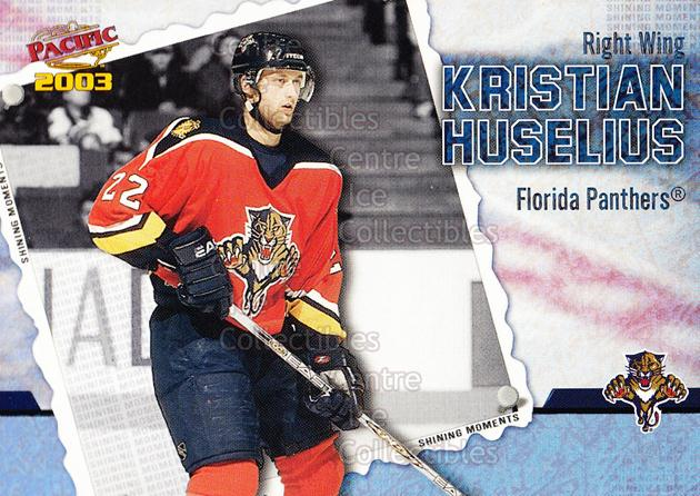 2002-03 Pacific Shining Moments #6 Kristian Huselius<br/>4 In Stock - $2.00 each - <a href=https://centericecollectibles.foxycart.com/cart?name=2002-03%20Pacific%20Shining%20Moments%20%236%20Kristian%20Huseli...&quantity_max=4&price=$2.00&code=105280 class=foxycart> Buy it now! </a>