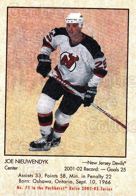 2002-03 Parkhurst Retro #73 Joe Nieuwendyk<br/>2 In Stock - $1.00 each - <a href=https://centericecollectibles.foxycart.com/cart?name=2002-03%20Parkhurst%20Retro%20%2373%20Joe%20Nieuwendyk...&quantity_max=2&price=$1.00&code=105376 class=foxycart> Buy it now! </a>