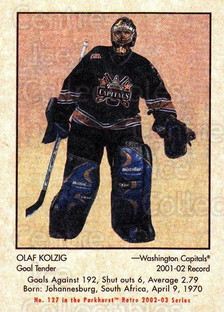 2002-03 Parkhurst Retro #127 Olaf Kolzig<br/>5 In Stock - $1.00 each - <a href=https://centericecollectibles.foxycart.com/cart?name=2002-03%20Parkhurst%20Retro%20%23127%20Olaf%20Kolzig...&quantity_max=5&price=$1.00&code=105591 class=foxycart> Buy it now! </a>