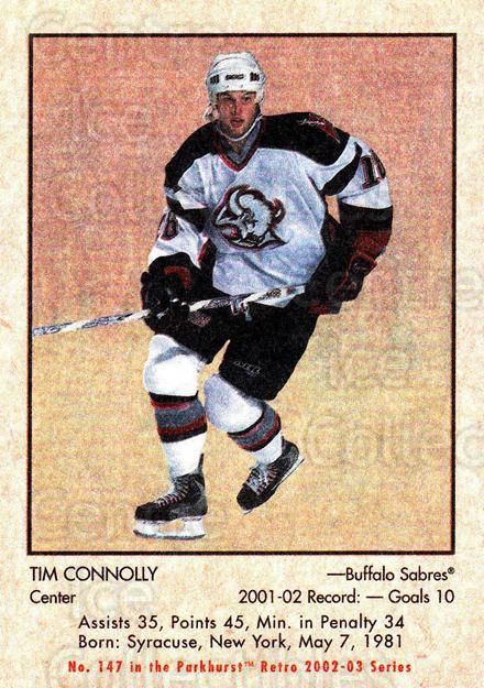 2002-03 Parkhurst Retro #147 Tim Connolly<br/>4 In Stock - $1.00 each - <a href=https://centericecollectibles.foxycart.com/cart?name=2002-03%20Parkhurst%20Retro%20%23147%20Tim%20Connolly...&quantity_max=4&price=$1.00&code=105613 class=foxycart> Buy it now! </a>