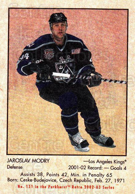 2002-03 Parkhurst Retro #151 Jaroslav Modry<br/>5 In Stock - $1.00 each - <a href=https://centericecollectibles.foxycart.com/cart?name=2002-03%20Parkhurst%20Retro%20%23151%20Jaroslav%20Modry...&quantity_max=5&price=$1.00&code=105618 class=foxycart> Buy it now! </a>