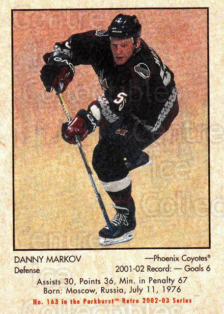 2002-03 Parkhurst Retro #163 Danny Markov<br/>6 In Stock - $1.00 each - <a href=https://centericecollectibles.foxycart.com/cart?name=2002-03%20Parkhurst%20Retro%20%23163%20Danny%20Markov...&quantity_max=6&price=$1.00&code=105629 class=foxycart> Buy it now! </a>