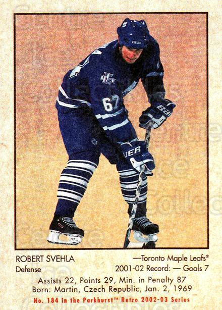 2002-03 Parkhurst Retro #184 Robert Svehla<br/>5 In Stock - $1.00 each - <a href=https://centericecollectibles.foxycart.com/cart?name=2002-03%20Parkhurst%20Retro%20%23184%20Robert%20Svehla...&quantity_max=5&price=$1.00&code=105651 class=foxycart> Buy it now! </a>