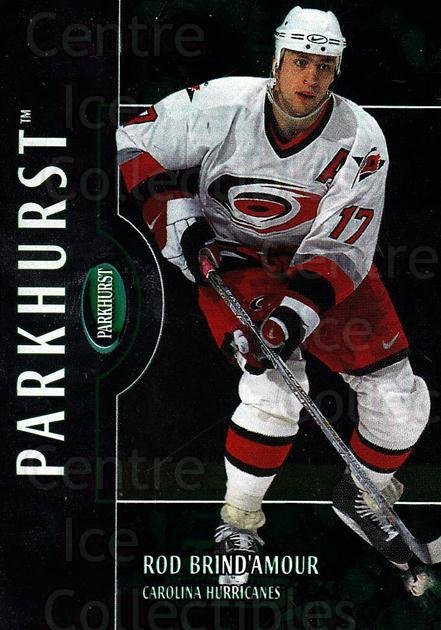 2002-03 Parkhurst #1 Rod Brind'Amour<br/>2 In Stock - $1.00 each - <a href=https://centericecollectibles.foxycart.com/cart?name=2002-03%20Parkhurst%20%231%20Rod%20Brind'Amour...&quantity_max=2&price=$1.00&code=105728 class=foxycart> Buy it now! </a>