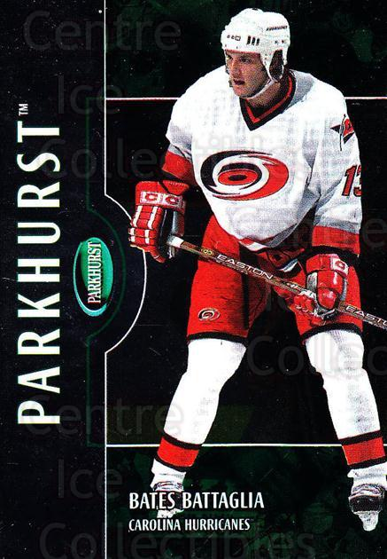 2002-03 Parkhurst #10 Bates Battaglia<br/>3 In Stock - $1.00 each - <a href=https://centericecollectibles.foxycart.com/cart?name=2002-03%20Parkhurst%20%2310%20Bates%20Battaglia...&quantity_max=3&price=$1.00&code=105729 class=foxycart> Buy it now! </a>