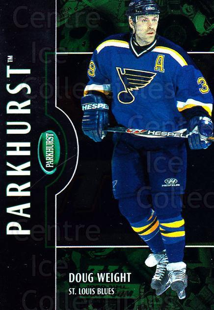 2002-03 Parkhurst #126 Doug Weight<br/>3 In Stock - $1.00 each - <a href=https://centericecollectibles.foxycart.com/cart?name=2002-03%20Parkhurst%20%23126%20Doug%20Weight...&quantity_max=3&price=$1.00&code=105754 class=foxycart> Buy it now! </a>