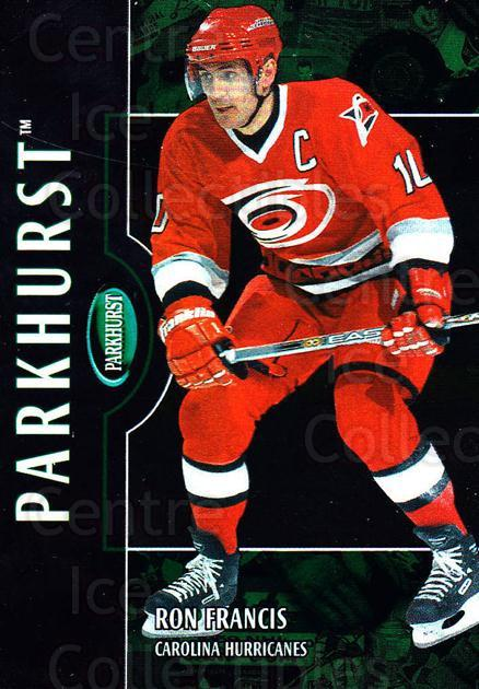 2002-03 Parkhurst #128 Ron Francis<br/>4 In Stock - $1.00 each - <a href=https://centericecollectibles.foxycart.com/cart?name=2002-03%20Parkhurst%20%23128%20Ron%20Francis...&quantity_max=4&price=$1.00&code=105756 class=foxycart> Buy it now! </a>