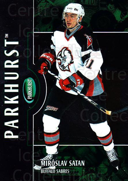 2002-03 Parkhurst #141 Miroslav Satan<br/>7 In Stock - $1.00 each - <a href=https://centericecollectibles.foxycart.com/cart?name=2002-03%20Parkhurst%20%23141%20Miroslav%20Satan...&quantity_max=7&price=$1.00&code=105770 class=foxycart> Buy it now! </a>