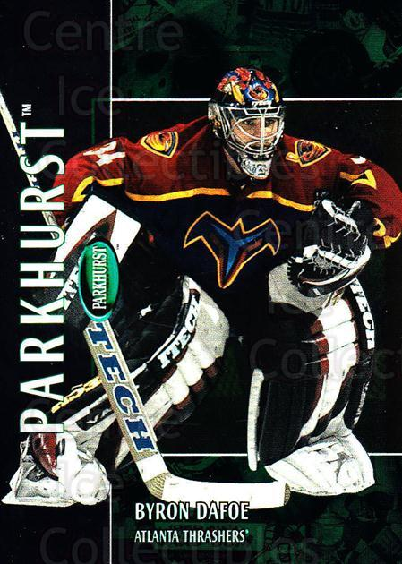 2002-03 Parkhurst #149 Byron Dafoe<br/>7 In Stock - $1.00 each - <a href=https://centericecollectibles.foxycart.com/cart?name=2002-03%20Parkhurst%20%23149%20Byron%20Dafoe...&quantity_max=7&price=$1.00&code=105778 class=foxycart> Buy it now! </a>