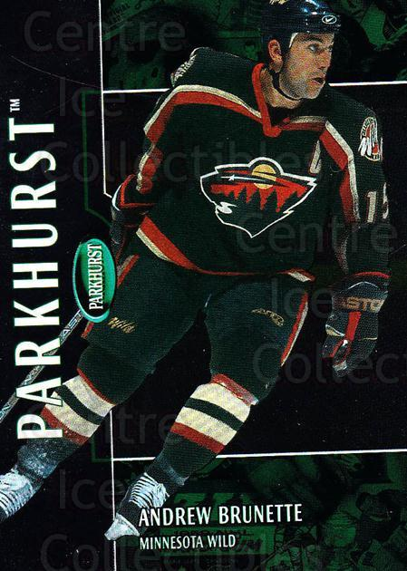 2002-03 Parkhurst #158 Andrew Brunette<br/>5 In Stock - $1.00 each - <a href=https://centericecollectibles.foxycart.com/cart?name=2002-03%20Parkhurst%20%23158%20Andrew%20Brunette...&quantity_max=5&price=$1.00&code=105786 class=foxycart> Buy it now! </a>