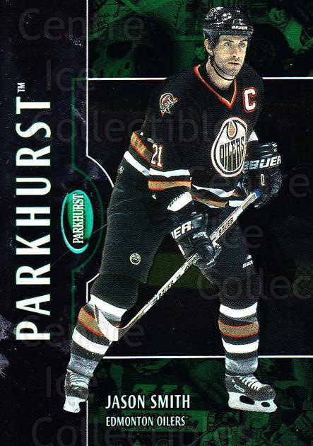 2002-03 Parkhurst #168 Jason Smith<br/>4 In Stock - $1.00 each - <a href=https://centericecollectibles.foxycart.com/cart?name=2002-03%20Parkhurst%20%23168%20Jason%20Smith...&quantity_max=4&price=$1.00&code=105796 class=foxycart> Buy it now! </a>