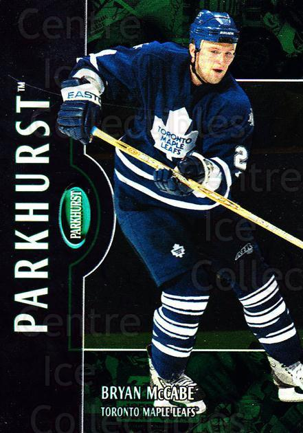 2002-03 Parkhurst #170 Bryan McCabe<br/>4 In Stock - $1.00 each - <a href=https://centericecollectibles.foxycart.com/cart?name=2002-03%20Parkhurst%20%23170%20Bryan%20McCabe...&quantity_max=4&price=$1.00&code=105799 class=foxycart> Buy it now! </a>