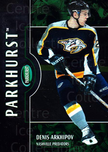 2002-03 Parkhurst #178 Denis Arkhipov<br/>5 In Stock - $1.00 each - <a href=https://centericecollectibles.foxycart.com/cart?name=2002-03%20Parkhurst%20%23178%20Denis%20Arkhipov...&quantity_max=5&price=$1.00&code=105806 class=foxycart> Buy it now! </a>