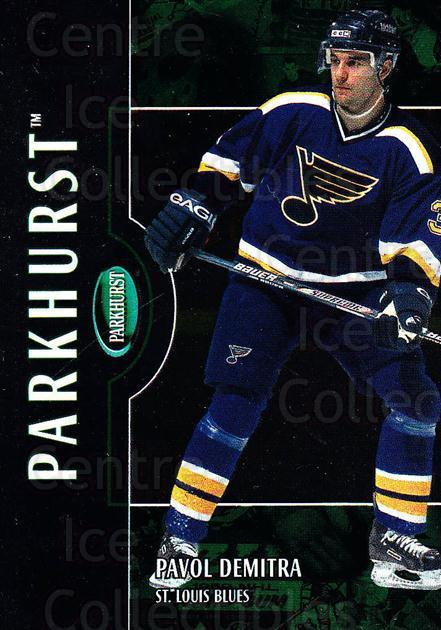 2002-03 Parkhurst #18 Pavol Demitra<br/>5 In Stock - $1.00 each - <a href=https://centericecollectibles.foxycart.com/cart?name=2002-03%20Parkhurst%20%2318%20Pavol%20Demitra...&quantity_max=5&price=$1.00&code=105808 class=foxycart> Buy it now! </a>