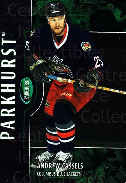 2002-03 Parkhurst #181 Andrew Cassels<br/>4 In Stock - $1.00 each - <a href=https://centericecollectibles.foxycart.com/cart?name=2002-03%20Parkhurst%20%23181%20Andrew%20Cassels...&quantity_max=4&price=$1.00&code=105810 class=foxycart> Buy it now! </a>
