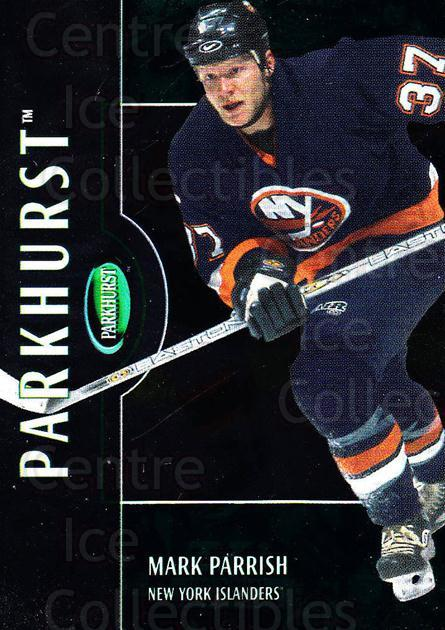 2002-03 Parkhurst #19 Mark Parrish<br/>5 In Stock - $1.00 each - <a href=https://centericecollectibles.foxycart.com/cart?name=2002-03%20Parkhurst%20%2319%20Mark%20Parrish...&quantity_max=5&price=$1.00&code=105819 class=foxycart> Buy it now! </a>