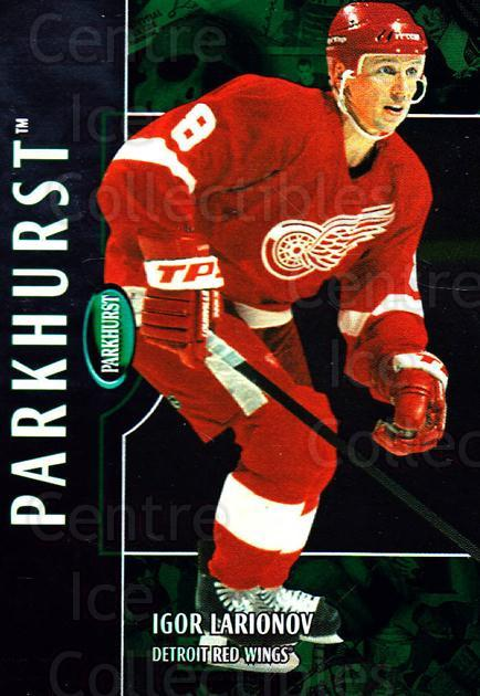 2002-03 Parkhurst #196 Igor Larionov<br/>4 In Stock - $1.00 each - <a href=https://centericecollectibles.foxycart.com/cart?name=2002-03%20Parkhurst%20%23196%20Igor%20Larionov...&quantity_max=4&price=$1.00&code=105826 class=foxycart> Buy it now! </a>