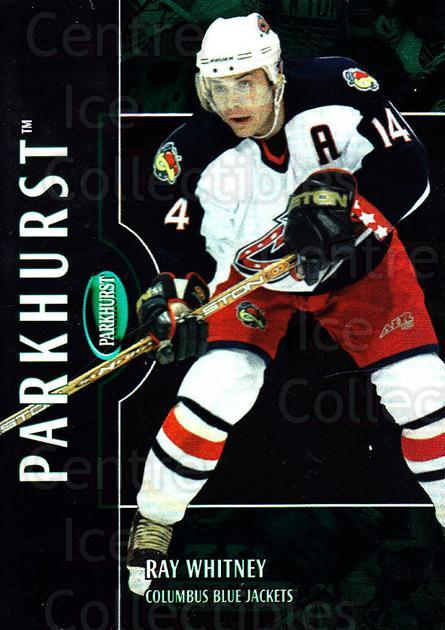 2002-03 Parkhurst #198 Ray Whitney<br/>4 In Stock - $1.00 each - <a href=https://centericecollectibles.foxycart.com/cart?name=2002-03%20Parkhurst%20%23198%20Ray%20Whitney...&quantity_max=4&price=$1.00&code=105828 class=foxycart> Buy it now! </a>