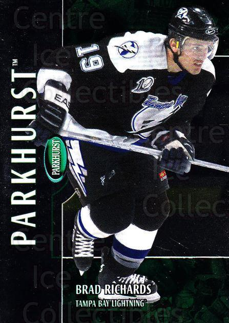 2002-03 Parkhurst #3 Brad Richards<br/>3 In Stock - $1.00 each - <a href=https://centericecollectibles.foxycart.com/cart?name=2002-03%20Parkhurst%20%233%20Brad%20Richards...&quantity_max=3&price=$1.00&code=105850 class=foxycart> Buy it now! </a>
