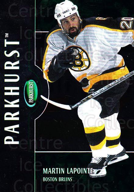 2002-03 Parkhurst #34 Martin Lapointe<br/>4 In Stock - $1.00 each - <a href=https://centericecollectibles.foxycart.com/cart?name=2002-03%20Parkhurst%20%2334%20Martin%20Lapointe...&quantity_max=4&price=$1.00&code=105855 class=foxycart> Buy it now! </a>