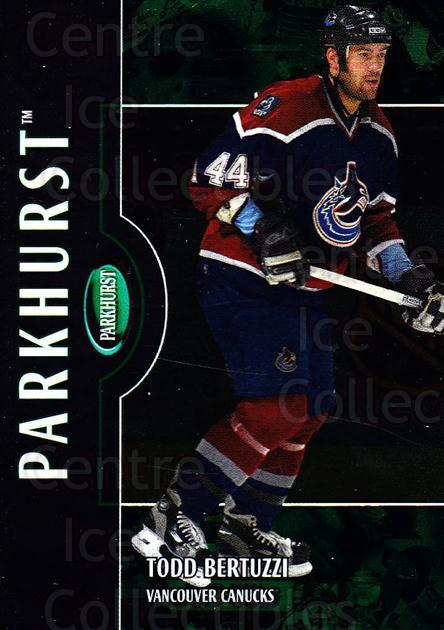 2002-03 Parkhurst #35 Todd Bertuzzi<br/>5 In Stock - $1.00 each - <a href=https://centericecollectibles.foxycart.com/cart?name=2002-03%20Parkhurst%20%2335%20Todd%20Bertuzzi...&quantity_max=5&price=$1.00&code=105856 class=foxycart> Buy it now! </a>