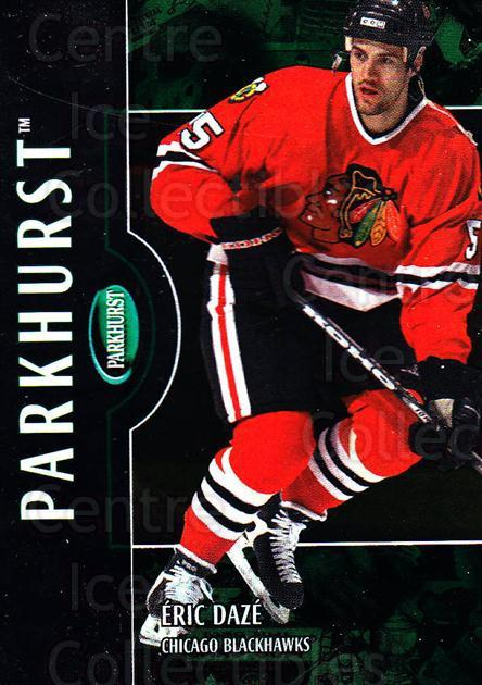 2002-03 Parkhurst #38 Eric Daze<br/>2 In Stock - $1.00 each - <a href=https://centericecollectibles.foxycart.com/cart?name=2002-03%20Parkhurst%20%2338%20Eric%20Daze...&quantity_max=2&price=$1.00&code=105859 class=foxycart> Buy it now! </a>