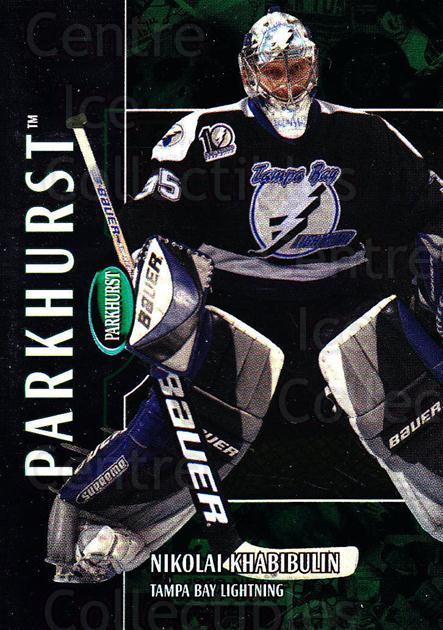 2002-03 Parkhurst #39 Nikolai Khabibulin<br/>3 In Stock - $1.00 each - <a href=https://centericecollectibles.foxycart.com/cart?name=2002-03%20Parkhurst%20%2339%20Nikolai%20Khabibu...&quantity_max=3&price=$1.00&code=105860 class=foxycart> Buy it now! </a>
