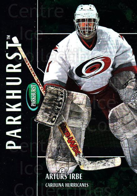 2002-03 Parkhurst #5 Arturs Irbe<br/>5 In Stock - $1.00 each - <a href=https://centericecollectibles.foxycart.com/cart?name=2002-03%20Parkhurst%20%235%20Arturs%20Irbe...&quantity_max=5&price=$1.00&code=105872 class=foxycart> Buy it now! </a>