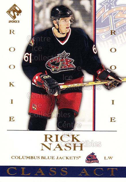 2002-03 Private Stock Class Act #6 Rick Nash<br/>4 In Stock - $3.00 each - <a href=https://centericecollectibles.foxycart.com/cart?name=2002-03%20Private%20Stock%20Class%20Act%20%236%20Rick%20Nash...&quantity_max=4&price=$3.00&code=105913 class=foxycart> Buy it now! </a>