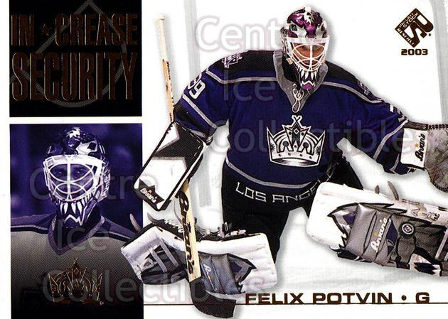2002-03 Private Stock In Crease Security #11 Felix Potvin<br/>8 In Stock - $2.00 each - <a href=https://centericecollectibles.foxycart.com/cart?name=2002-03%20Private%20Stock%20In%20Crease%20Security%20%2311%20Felix%20Potvin...&quantity_max=8&price=$2.00&code=105917 class=foxycart> Buy it now! </a>