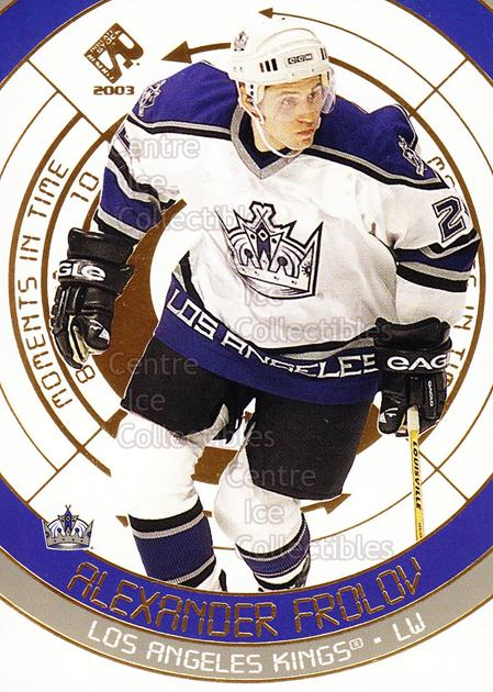2002-03 Private Stock Moments in Time #5 Alexander Frolov<br/>5 In Stock - $2.00 each - <a href=https://centericecollectibles.foxycart.com/cart?name=2002-03%20Private%20Stock%20Moments%20in%20Time%20%235%20Alexander%20Frolo...&quantity_max=5&price=$2.00&code=105936 class=foxycart> Buy it now! </a>