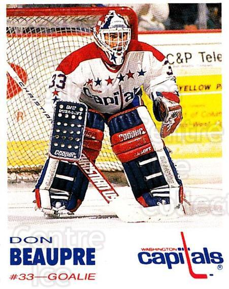 1992-93 Washington Capitals Kodak #2 Don Beaupre<br/>1 In Stock - $3.00 each - <a href=https://centericecollectibles.foxycart.com/cart?name=1992-93%20Washington%20Capitals%20Kodak%20%232%20Don%20Beaupre...&quantity_max=1&price=$3.00&code=10610 class=foxycart> Buy it now! </a>