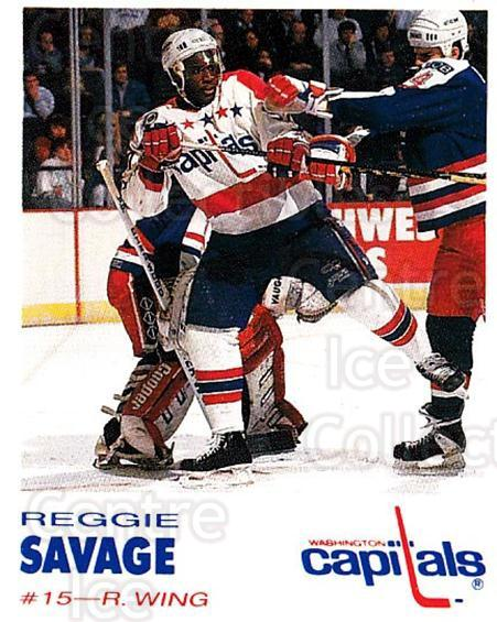 1992-93 Washington Capitals Kodak #24 Reggie Savage<br/>6 In Stock - $3.00 each - <a href=https://centericecollectibles.foxycart.com/cart?name=1992-93%20Washington%20Capitals%20Kodak%20%2324%20Reggie%20Savage...&quantity_max=6&price=$3.00&code=10615 class=foxycart> Buy it now! </a>