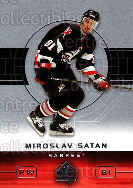 2002-03 SP Authentic #10 Miroslav Satan<br/>9 In Stock - $1.00 each - <a href=https://centericecollectibles.foxycart.com/cart?name=2002-03%20SP%20Authentic%20%2310%20Miroslav%20Satan...&quantity_max=9&price=$1.00&code=106471 class=foxycart> Buy it now! </a>