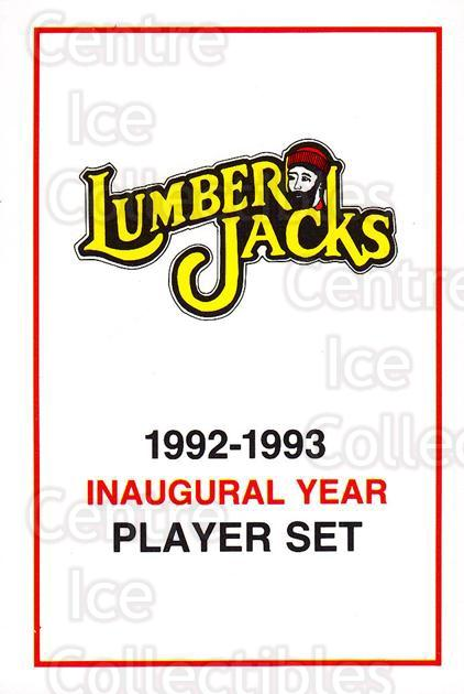 1992-93 Cleveland Lumberjacks #1 Header Card, Checklist<br/>3 In Stock - $3.00 each - <a href=https://centericecollectibles.foxycart.com/cart?name=1992-93%20Cleveland%20Lumberjacks%20%231%20Header%20Card,%20Ch...&price=$3.00&code=10647 class=foxycart> Buy it now! </a>