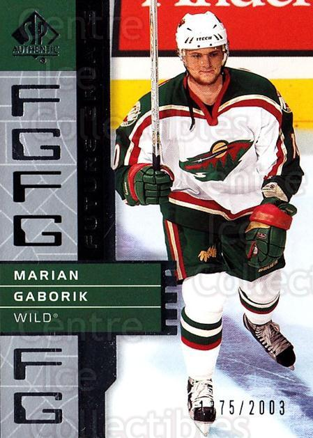 2002-03 SP Authentic #119 Marian Gaborik<br/>5 In Stock - $2.00 each - <a href=https://centericecollectibles.foxycart.com/cart?name=2002-03%20SP%20Authentic%20%23119%20Marian%20Gaborik...&quantity_max=5&price=$2.00&code=106484 class=foxycart> Buy it now! </a>