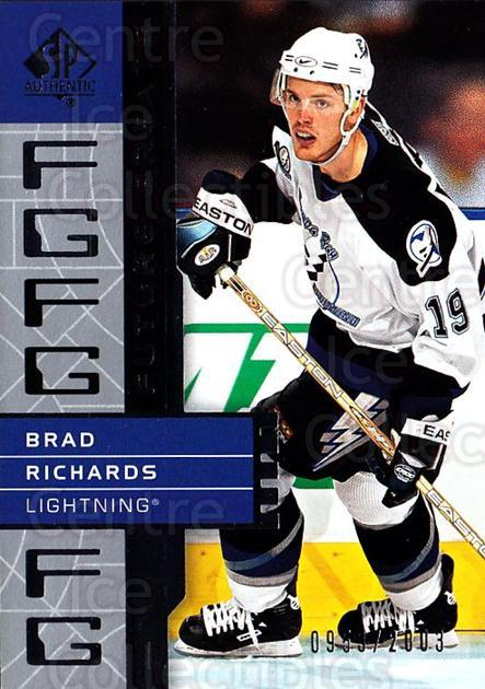 2002-03 SP Authentic #132 Brad Richards<br/>12 In Stock - $2.00 each - <a href=https://centericecollectibles.foxycart.com/cart?name=2002-03%20SP%20Authentic%20%23132%20Brad%20Richards...&quantity_max=12&price=$2.00&code=106491 class=foxycart> Buy it now! </a>