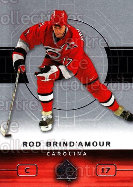 2002-03 SP Authentic #15 Rod Brind'Amour<br/>9 In Stock - $1.00 each - <a href=https://centericecollectibles.foxycart.com/cart?name=2002-03%20SP%20Authentic%20%2315%20Rod%20Brind'Amour...&quantity_max=9&price=$1.00&code=106503 class=foxycart> Buy it now! </a>