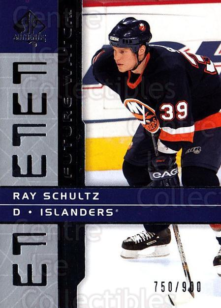 2002-03 SP Authentic #150 Ray Schultz<br/>2 In Stock - $5.00 each - <a href=https://centericecollectibles.foxycart.com/cart?name=2002-03%20SP%20Authentic%20%23150%20Ray%20Schultz...&quantity_max=2&price=$5.00&code=106504 class=foxycart> Buy it now! </a>