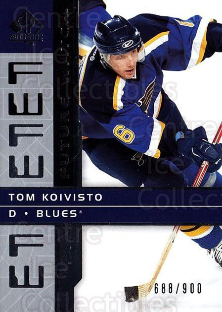 <a href=index.aspx?SetName=2002-03%20SP%20Authentic>2002-03 SP Authentic</a> #157 <a href=index.aspx?PlayerName=Tom%20Koivisto> Tom Koivisto</a><br/>4 in stock - $5.00 each - <a href=https://centericecollectibles.foxycart.com/cart?name=2002-03%20SP%20Authentic%20%23157%20Tom%20Koivisto...&price=$5.00&code=106508 class=foxycart> Buy it now! </a>