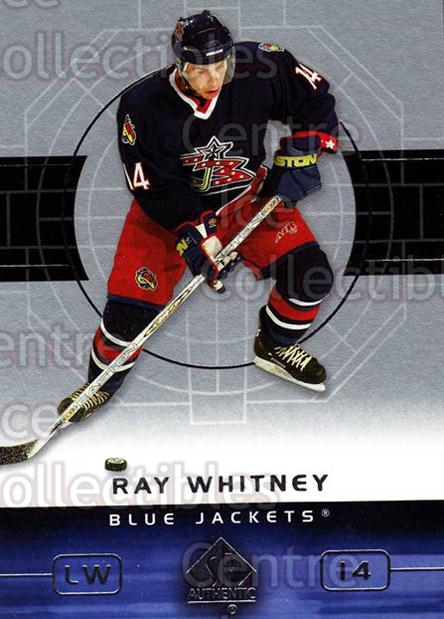 2002-03 SP Authentic #25 Ray Whitney<br/>8 In Stock - $1.00 each - <a href=https://centericecollectibles.foxycart.com/cart?name=2002-03%20SP%20Authentic%20%2325%20Ray%20Whitney...&quantity_max=8&price=$1.00&code=106531 class=foxycart> Buy it now! </a>